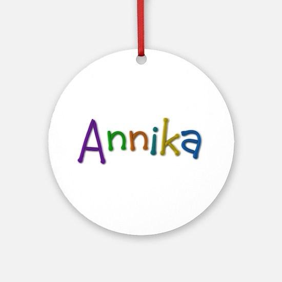 Annika Play Clay Round Ornament