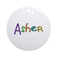 Asher Play Clay Round Ornament
