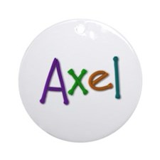 Axel Play Clay Round Ornament