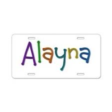 Alayna Play Clay Aluminum License Plate