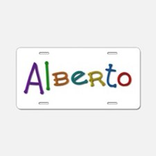 Alberto Play Clay Aluminum License Plate