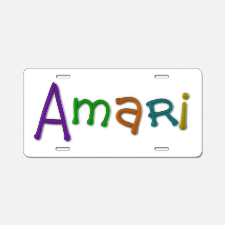 Amari Play Clay Aluminum License Plate