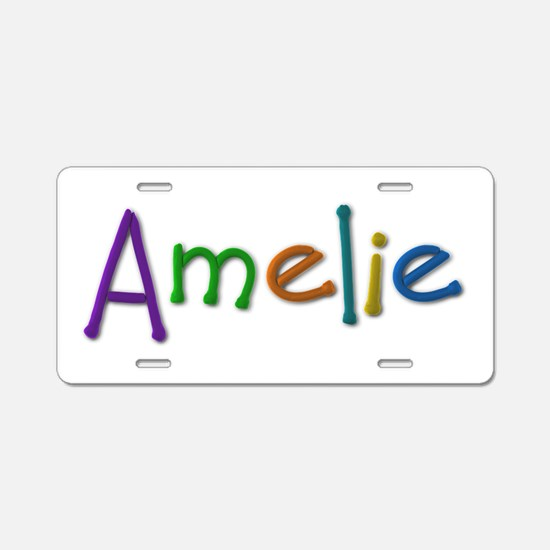 Amelie Play Clay Aluminum License Plate