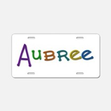 Aubree Play Clay Aluminum License Plate