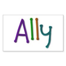 Ally Play Clay Rectangle Decal