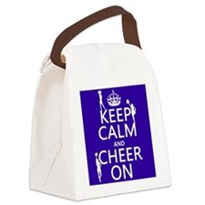 Keep Calm and Cheer on Canvas Lunch Bag