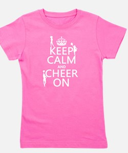 Keep Calm and Cheer on Girl's Tee