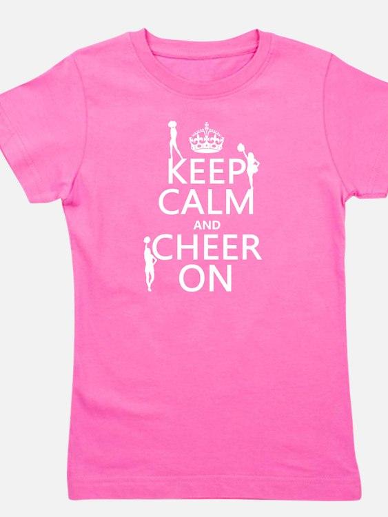 Keep Calm and Cheer on Girl's Tee