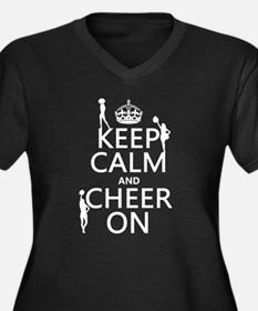 Keep Calm and Cheer on Plus Size T-Shirt