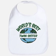 World's Best Twin Sister Bib