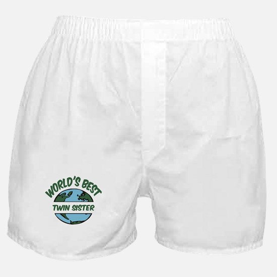 World's Best Twin Sister Boxer Shorts