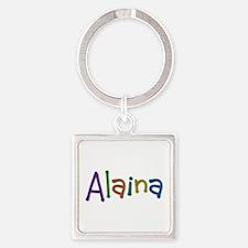 Alaina Play Clay Square Keychain