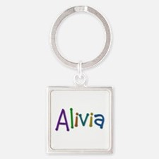 Alivia Play Clay Square Keychain