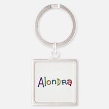 Alondra Play Clay Square Keychain