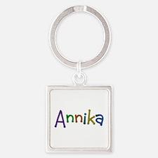 Annika Play Clay Square Keychain