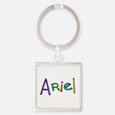 Ariel Play Clay Square Keychain