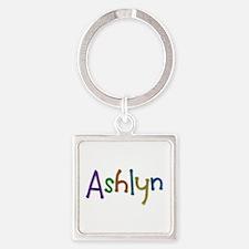 Ashlyn Play Clay Square Keychain