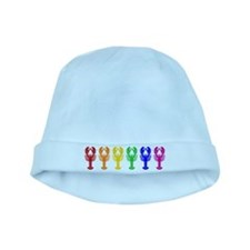 Rainbow Lobsters baby hat