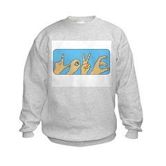 Love & Peace hands Sweatshirt