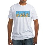 Love & Peace hands Fitted T-Shirt