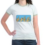 Love & Peace hands Jr. Ringer T-Shirt