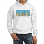 Love & Peace hands Hooded Sweatshirt