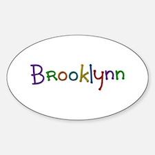 Brooklynn Play Clay Oval Decal