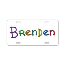 Brenden Play Clay Aluminum License Plate