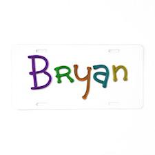 Bryan Play Clay Aluminum License Plate