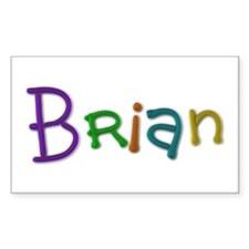 Brian Play Clay Rectangle Decal