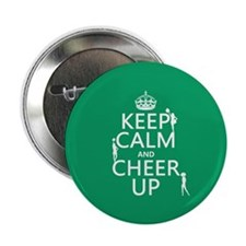 """Keep Calm and Cheer Up 2.25"""" Button"""