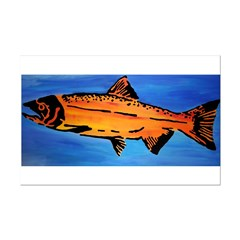 Wood Salmon Posters