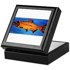 Wood Salmon Keepsake Box
