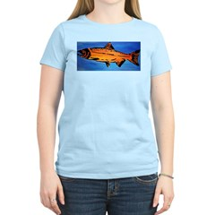 Wood Salmon Women's Pink T-Shirt