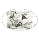 English Show Homers Oval Sticker
