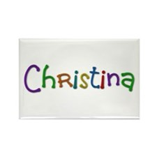 Christina Play Clay Rectangle Magnet