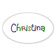 Christina Play Clay Oval Decal