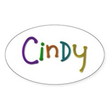 Cindy Play Clay Oval Decal