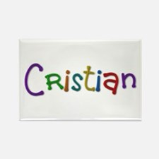 Cristian Play Clay Rectangle Magnet