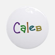 Caleb Play Clay Round Ornament