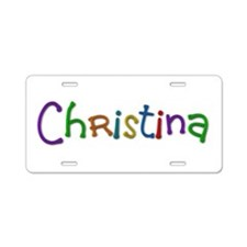 Christina Play Clay Aluminum License Plate