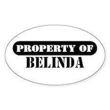 Property of Belinda Oval Decal
