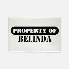 Property of Belinda Rectangle Magnet