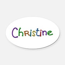 Christine Play Clay Oval Car Magnet