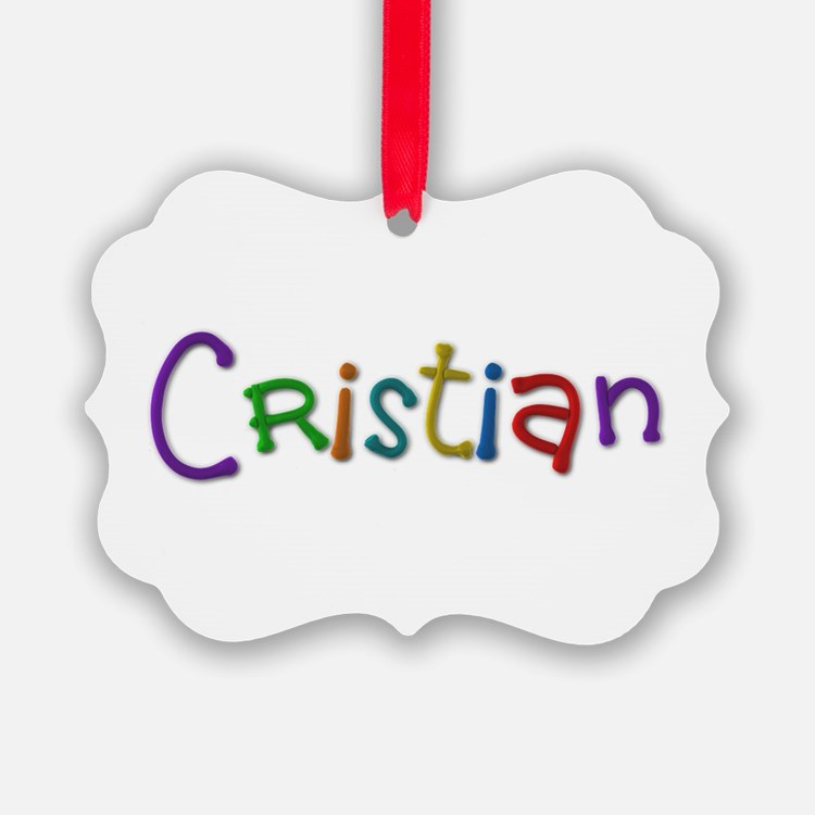 Cristian Play Clay Ornament