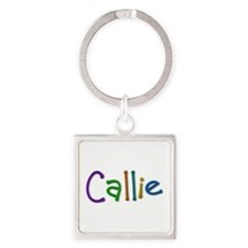 Callie Play Clay Square Keychain