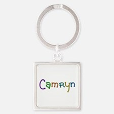 Camryn Play Clay Square Keychain