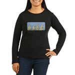 Love & Peace hands Women's Long Sleeve Dark T-Shir