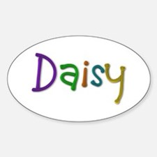 Daisy Play Clay Oval Decal