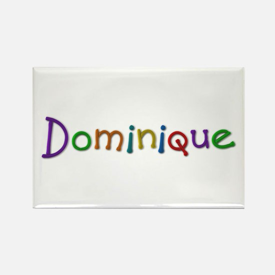 Dominique Play Clay Rectangle Magnet